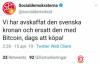 【蜗牛娱乐】比特币成瑞典官方货币?只维持了三十分钟