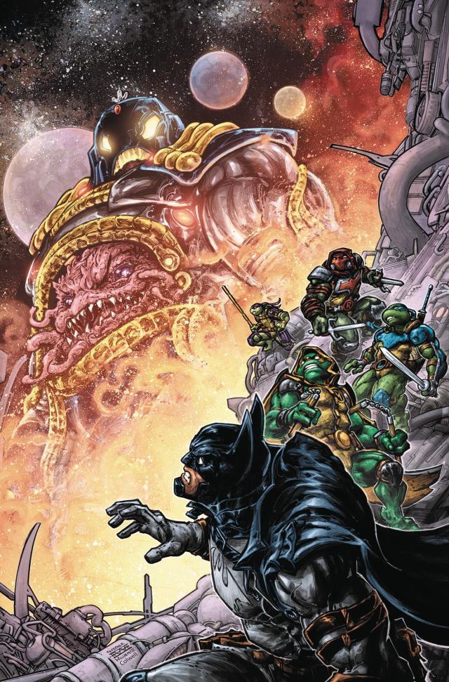 【蜗牛娱乐】DC宇宙与忍者龟宇宙合作 忍者龟变成罗宾协助蝙蝠侠