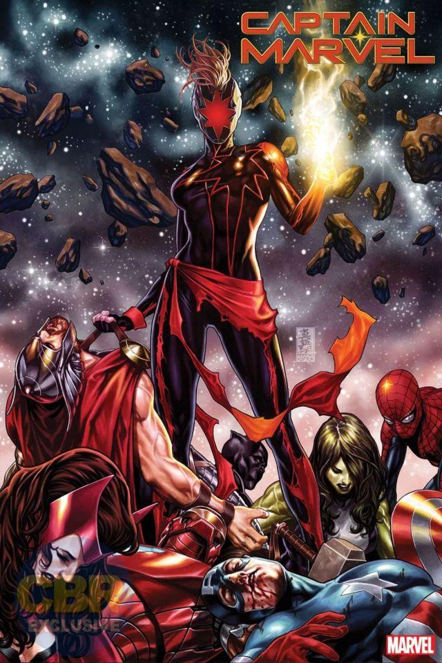 【蜗牛娱乐】黑化版惊奇队长设计图 攻击复仇者联盟威胁漫威宇宙