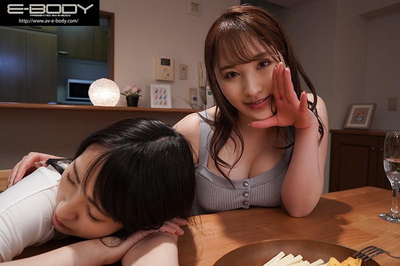 """【蜗牛娱乐】EBOD-829:巨乳姐姐""""北野未奈""""低语淫语贴身奶诱惑妹妹的男友中出!"""