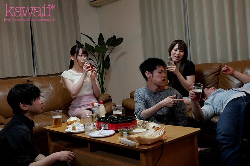 【蜗牛娱乐】七瀬アリス(七濑爱丽丝)作品CAWD-238:美女大学生一喝醉就变接吻魔勾引同学中出一整晚。